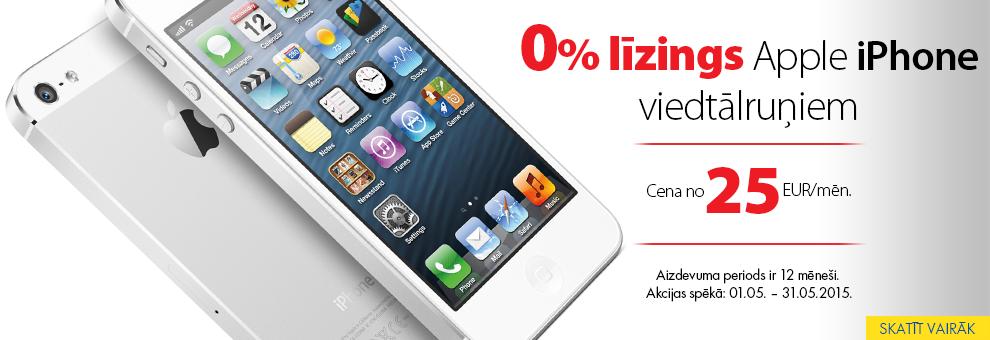Bezprocentu līzings Apple viedtālruņiem