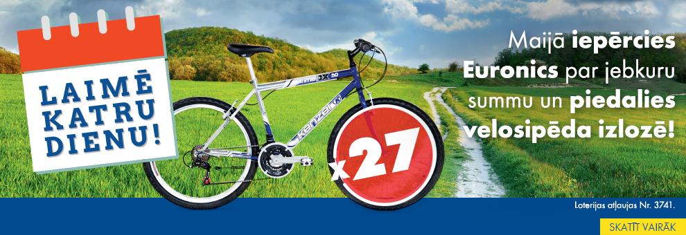 Iepērcies Euronics un laimē velosipēdu katru dienu!