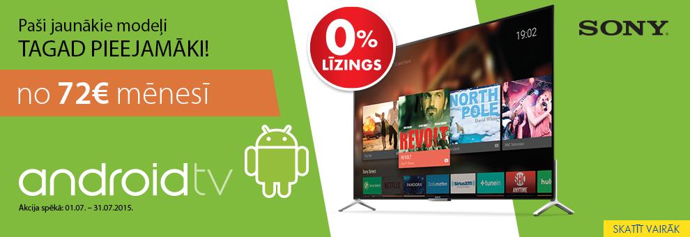 Jaunie Sony televizori ar Android operētājsistēmu