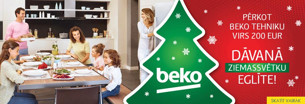 Pērkot Beko tehniku virs 200 EUR dāvanā Ziemassvētku eglīte!