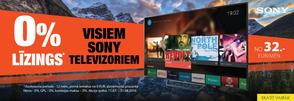 0% līzings Sony televizoriem