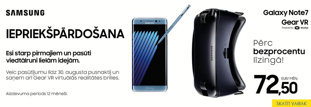 Samsung Galaxy Note 7 - iepriekšpārdošana