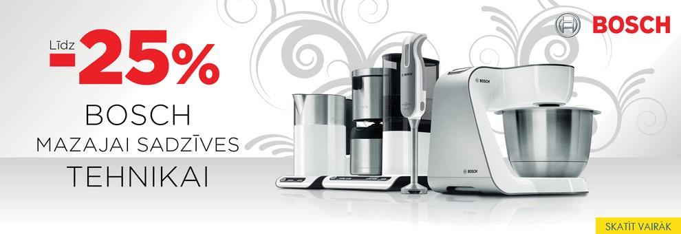 Bosch mazajai sadzīves tehnikai līdz -25%