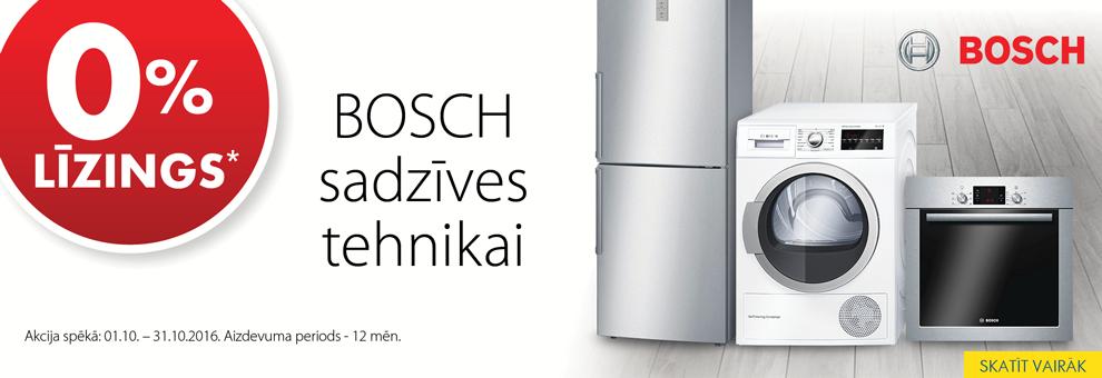 Bezprocentu līzings Bosch sadzīves tehnikai