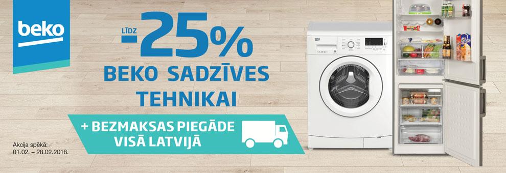 Līdz 25% Beko sadzīves tehnikai + BEZMAKSAS piegāde visā Latvijā