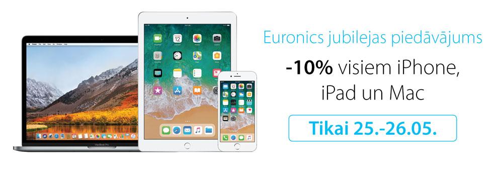 -10% visiem iPhone, iPad un Mac