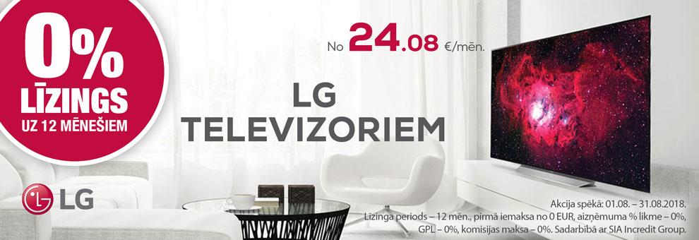 0% līzings uz 12 mēnešiem LG televizoriem