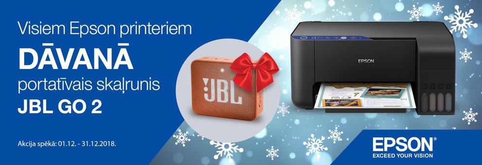 Pērkot jebkuru Epson printeri - Dāvanā saņem JBL GO 2 portatīvo skaļruni