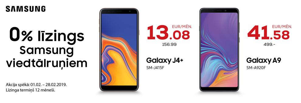 0% līzings uz 12 mēn. Samsung viedtālruņiem