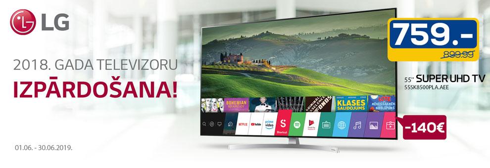 Super cenas 2018. gada LG televizoriem
