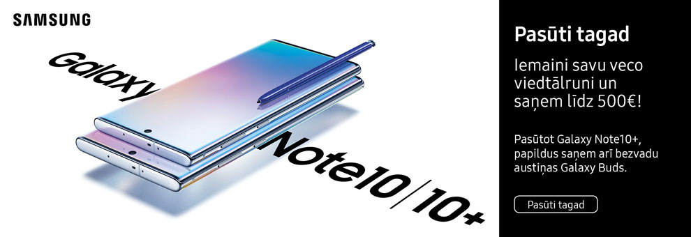 Preorder new Samsung Galaxy NOTE 10+ and receive Galaxy Buds as gift