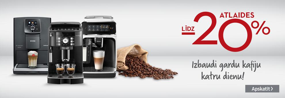 Līdz 20% atlaides Espresso aparātiem
