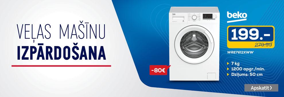 Beko veļas mašīnu izpārdošana
