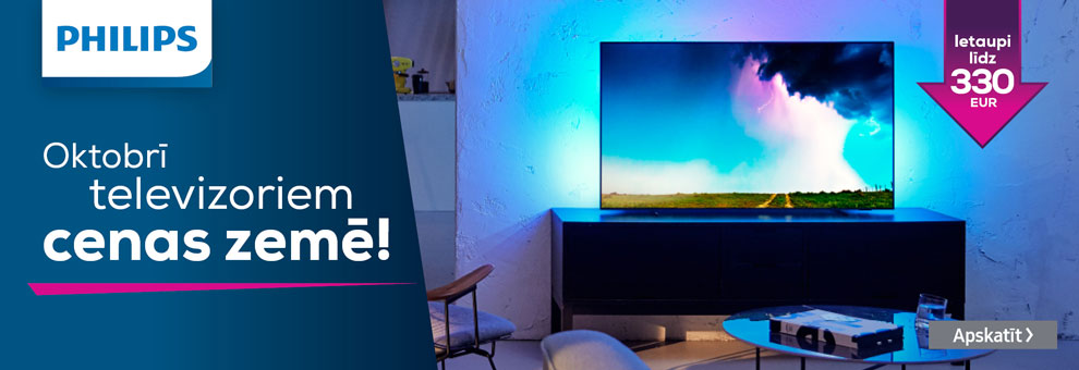 Philips televizoriem cenas zemē