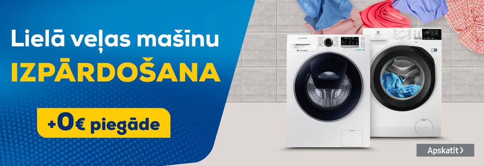 Bezmaksas piegāde veļas mašīnām visā Latvijā