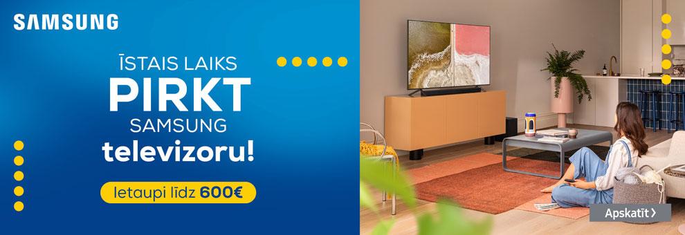 0% līzings uz 12 mēnešiem Samsung televizoriem ar Incredit