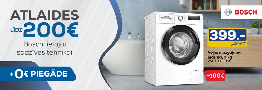 Bezmaksas piegāde Bosch lielajai sadzīves tehnikai visā Latvijā