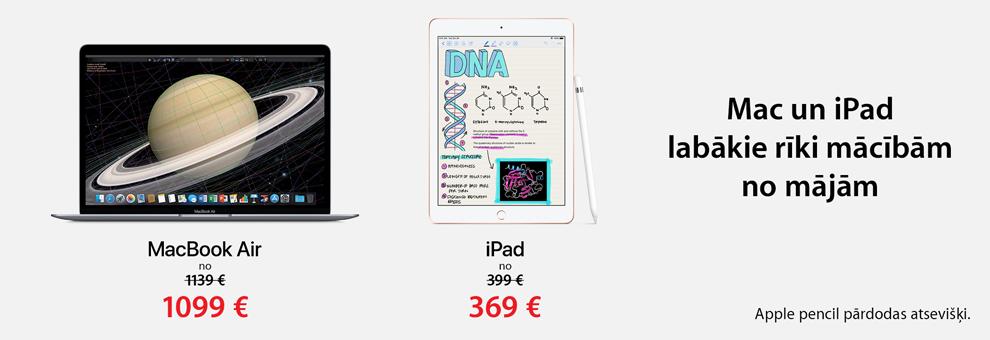 AppleMac un iPad piedāvājums