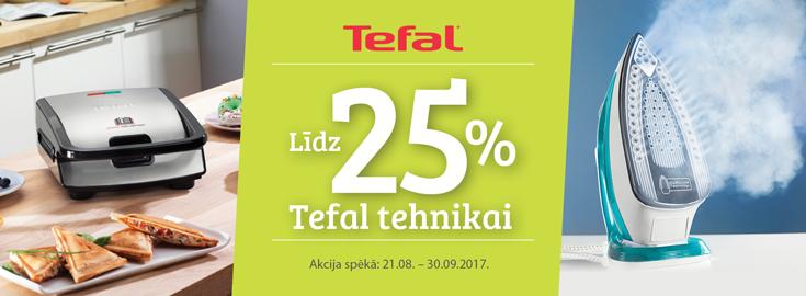 PL Līdz 25% Tefal tehnikai