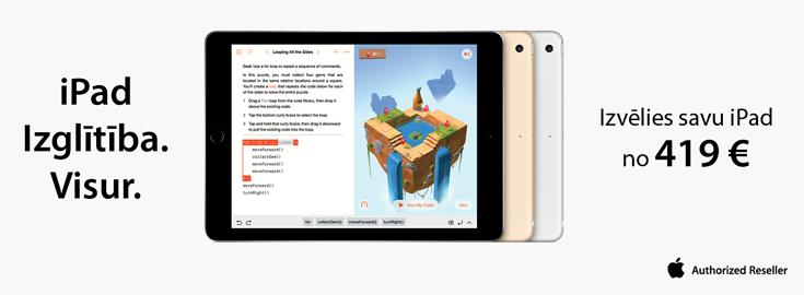 MP Izvēlies savu iPad no 419 EUR