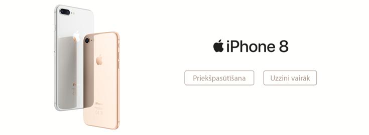 MP Apple iPhone 8 un iPhone 8 Plus iepriekšpasūtīšana