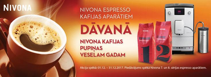 Dāvanā Nivona kafijas pupiņas