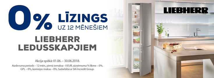 0% Lease for 12 months for Liebherr refrigerators