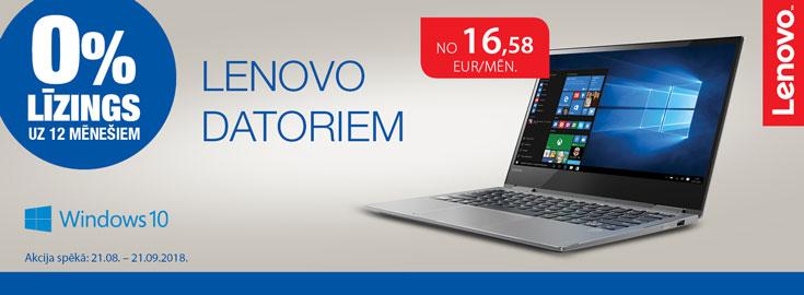 0% līzings Lenovo portatīvajiem datoriem