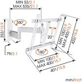 Televizora sienas stiprinājums W53071 (32-55), Vogels