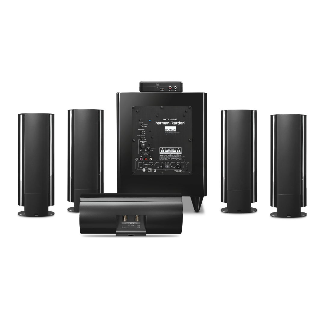5 1 speaker set harman kardon hkts65 hkts65bq 230. Black Bedroom Furniture Sets. Home Design Ideas