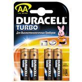 Alkaline baterijas Duracel Turbo / tips AA, 4gab