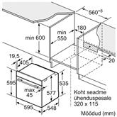 Интегрируемая духовка, Bosch / объём: 71 л