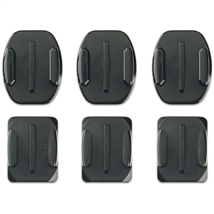 Curved + flat adhesive mounts GoPro