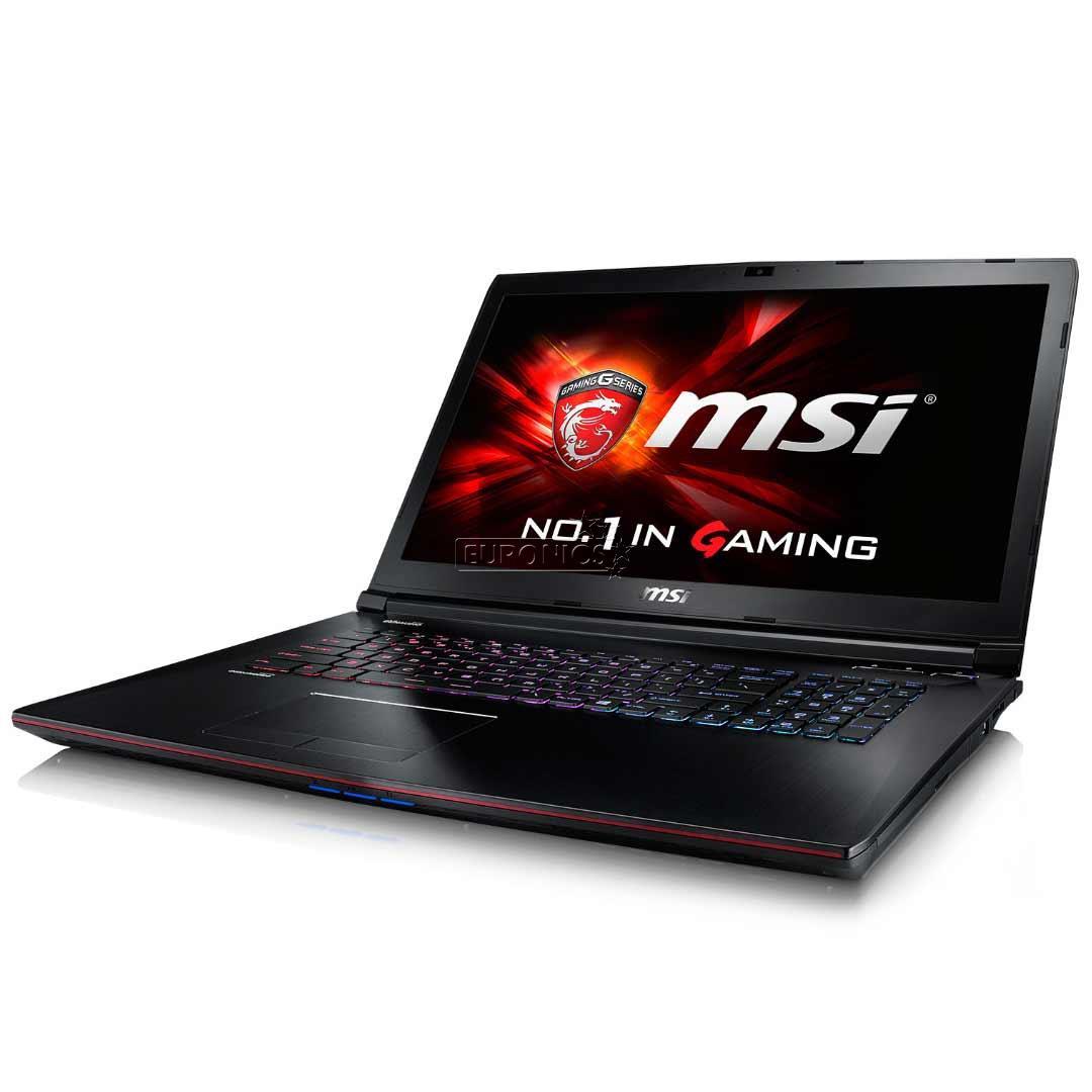 Ноутбук MSI GP72 7RD-255XRU 9S7-179993-255 (Intel Core i5-7300HQ 2.5 GHz/16384Mb/1000Gb/DVD-RW/nVidia GeForce GTX 1050 2048Mb/Wi-Fi/Bluetooth/Cam/17.3/1920x1080/DOS)