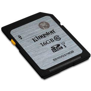 Atmiņas karte SDHC 16GB, Kingston / 10 klase