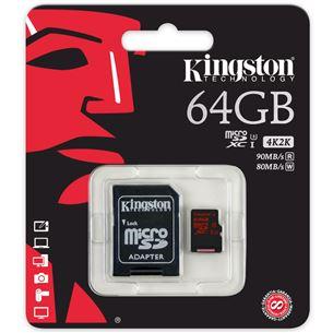 Atmiņas karte MicroSDXC, Kingston / 64GB