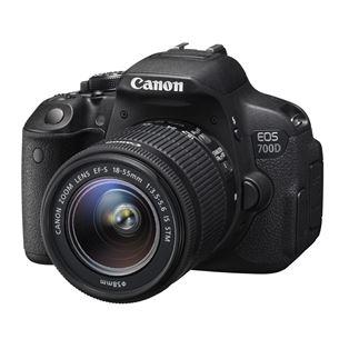 Digitālā spoguļkamera EOS 700D + 18-55DC III objektīvs, Canon