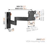 Televizora sienas stiprinājums W53050  (17-26), Vogels