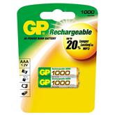 Lādējamās baterijas AAA, GP / 1000 mAh / 2 gab