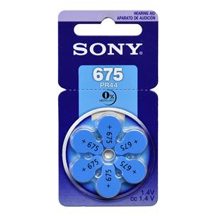 Baterijas dzirdes aparatam Hearing Aid 675, Sony / 6 gab