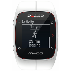 Pulsometrs M400 HR, Polar / balts