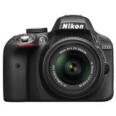 Зеркальная фотокамера D3300 + объектив AF-P DX NIKKOR 18-55мм F/3.5-5.6G VR, Nikon