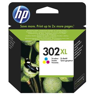 Tintes kārtridžs 302XL (trīs krāsas), HP