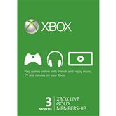 Xbox Live Gold membership card, Microsoft / 3 mēnešiem