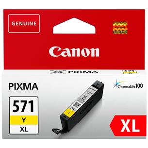 Tintes kārtridžs CLI-571XL, Canon / dzeltena