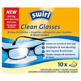 Одноразовые салфетки для чистки очков 10 шт, Swirl
