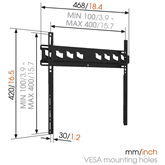 Televizora sienas stiprinājums MA3000 (32-55), Vogels