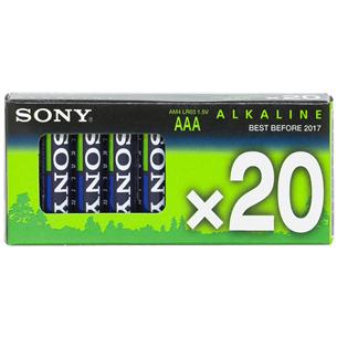 Batteries AAА Alkaline, Sony / 20 psc