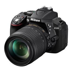 Spoguļkamera D5300 ar 18–105 f/3.5–5.6G objektīvu, Nikon
