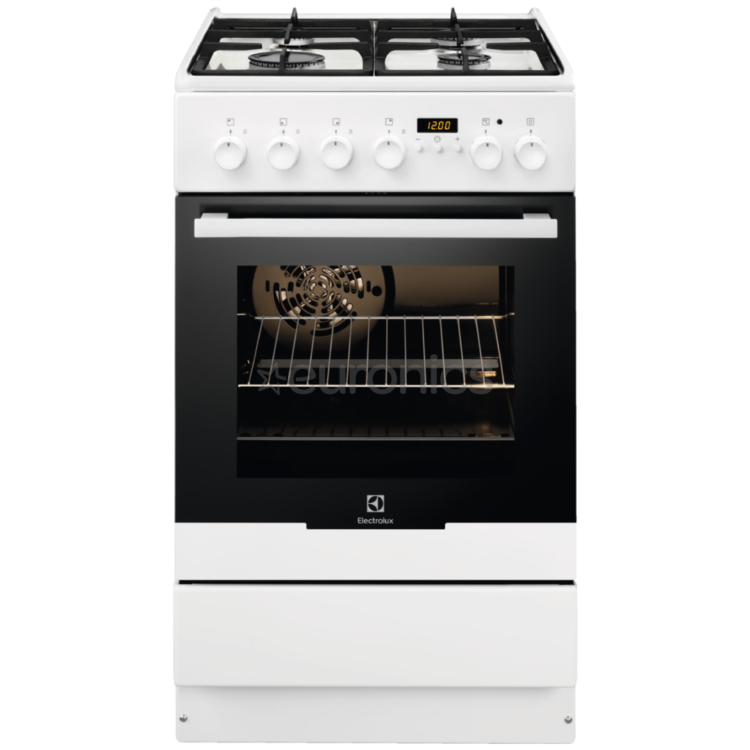Gas hob with electric oven, Electrolux / 50 cm, EKK54506OW